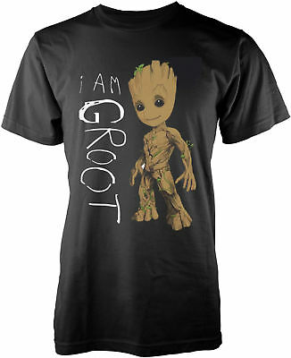 MARVEL GUARDIANS OF THE GALAXY VOL. 2 I Am Groot Scribbles T-SHIRT OFFICIAL