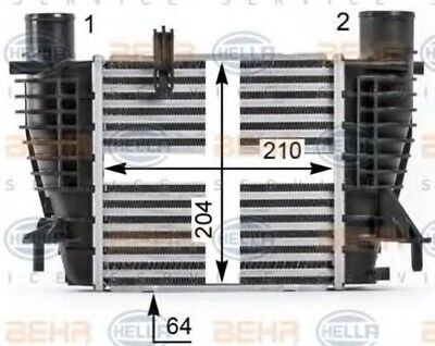 Hella AIR CONDITIONING INTERCOOLER CHARGER 8ML 8ML376700-131 EO 14461-EM00A