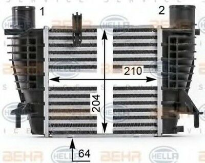 Hella AIR CONDITIONING INTERCOOLER CHARGER 8ML 8ML376700-131 OE 14461-EM00A