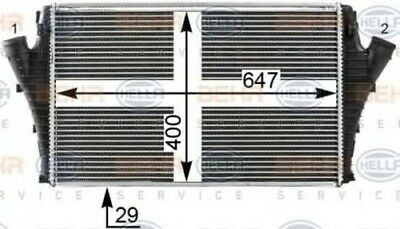Hella AC INTERCOOLER CHARGER 8ML376700-724 OE 51770436 Replaces 8ML376899-171