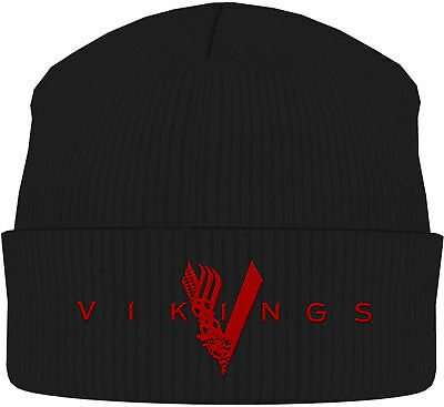 VIKINGS Classic Logo BEANIE MÜTZE KNITTED SKI HAT OFFICIAL MERCHANDISE