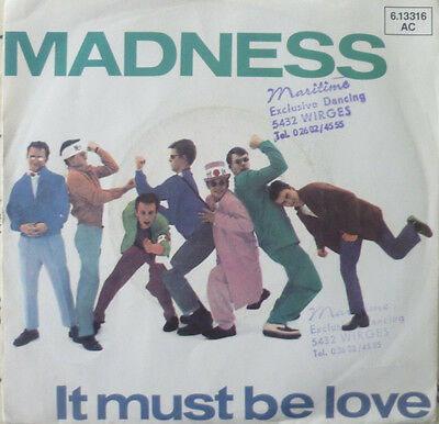 "7"" 1981 KULT SKA VG+++ ! MADNESS : It Must Be Love"