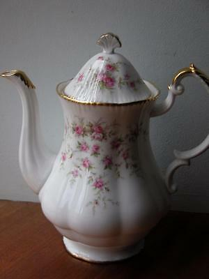 Vintage China Paragon Victoriana Rose Large Coffee Pot Tea Party