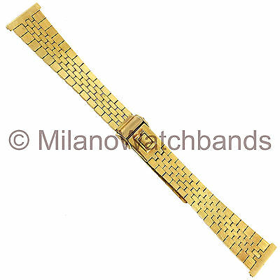 14mm JB Jacoby Bender Stainless Steel Gold Plated Champion Ladies Watch Band
