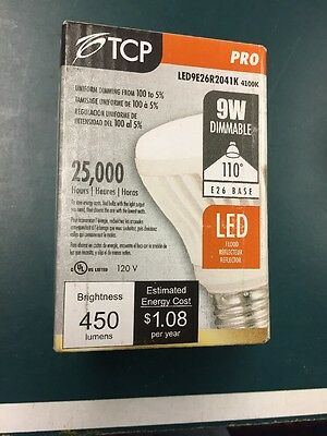 NEW TCP LED 9W R20 4100K - FLOOD LED9E26R2041K 120V 9W Bulb