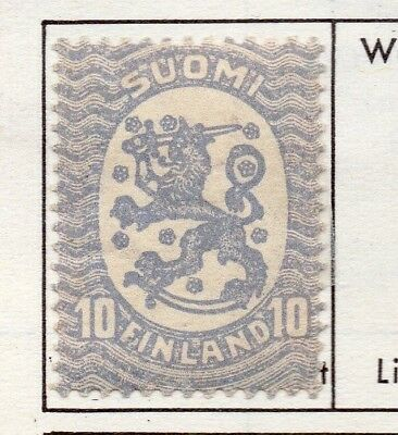 Finland 1917  Early Issue Fine Mint Hinged 10p. 151631