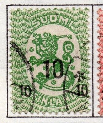 Finland 1919  Early Issue Fine Used 10p. Surcharged 151648