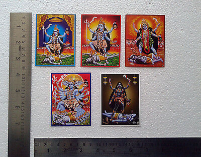 "Kali Kaali Maa ~ 5 POSTERS - Small Pocket Card Size 2.5""x3"""