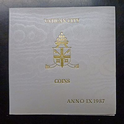 {BJStamps}  1987 VATICAN City Coins Pope John Paul II MINT set in Folder