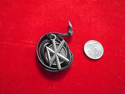"""Dead Kennedys / Black Cord Jewelry Necklace / New cond. """"90's"""" / 1"""" x 1 /12"""""""