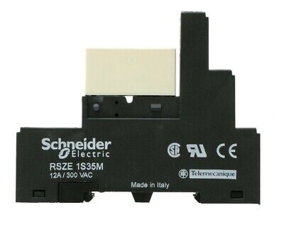 Schneider Electric RSZE 1S35M Relay Socket & RSB 1A120BD Relay, 10pc