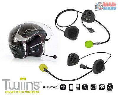 Twiins D3 Plus D2 Motorcycle Scooter Hands Free Bluetooth Communication Intercom