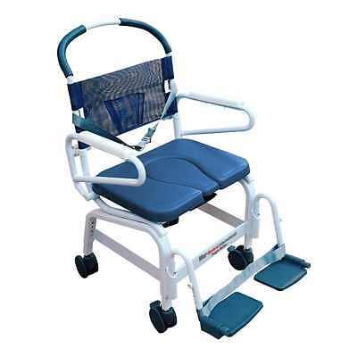 "Mor-Medical 22"" WIDE Euro Style Rehab Shower Chair Commode, 400lbs Cap"