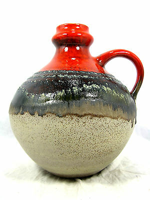"Beautiful glazed 70´s design Jasba  "" Lava "" Keramik pottery  Vase 905 12 23"