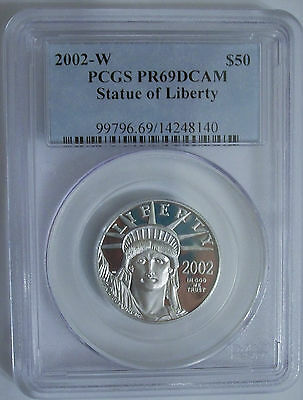 Lot of One PCGS, PR69 DC, 2002-W, $50.00, 1/2-Ounce Platinum Eagle: Tougher Date