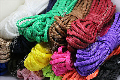 5/20/100Meter 4mm Parachute Cord Lanyard Rope 7-Strand Nylon Survival Outdoor