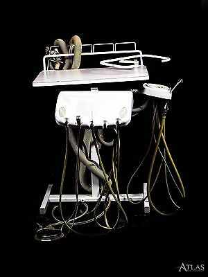 Dentech CU3030 Dental Delivery System Cart w/ 3 5-Hole Handpiece Connections
