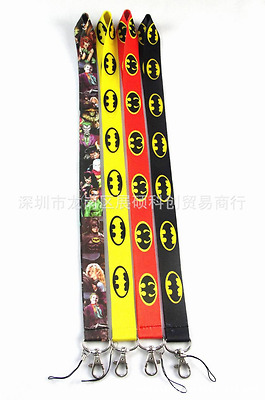 Batman Joker Set Lanyard neck strap ID Card badge holder Neck key Chains