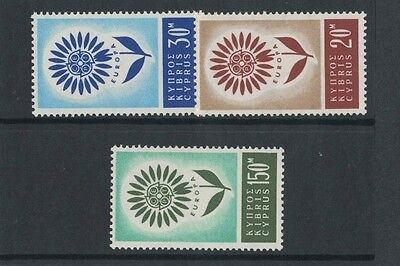 1964 Cyprus Europa Series SG 249/51 muh set of 3