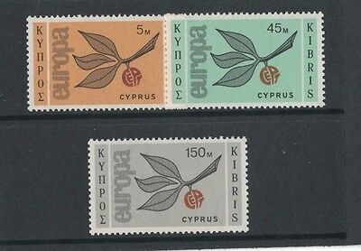 1965 Cyprus Europa Series SG 267/9 muh set of 3