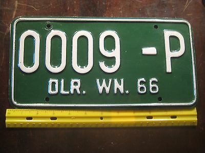 License Plate, Washington, 1966, Dealer, 0009 - P