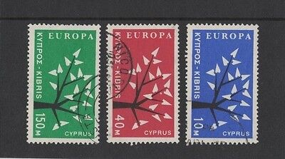 1963 Cyprus Europa Series SG 224/6 fine used set of 3