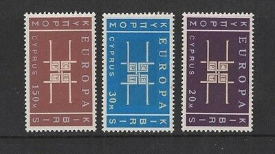 1963 Cyprus Europa Series SG 234/6 muh set of 3