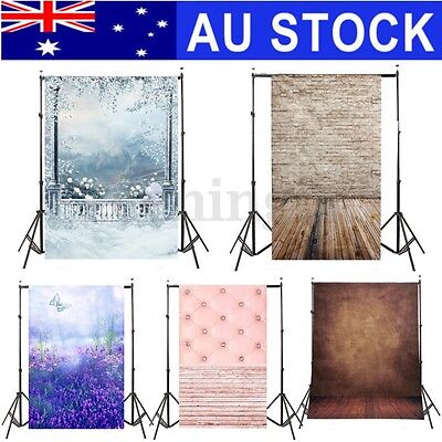 AU 3x5FT Wall Snow Wood Vinyl Photography Backdrop Photo Background Studio Props