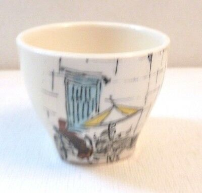 RARE Midwinter Pottery Cannes pattern egg cup  Hugh Casson