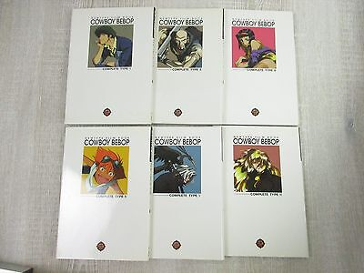 COWBOY BEBOP Film Book Set 1-6 w/Poster Anime Art Material Book Fanbook KD*