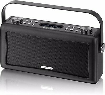 View Quest 'Hepburn' Bluetooth Audio System with DAB+ Radio in Black - Brand New
