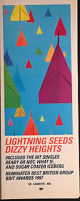 Lightning Seeds. Dizzy Heights - Half Page Advert Taken From Uk Magazine