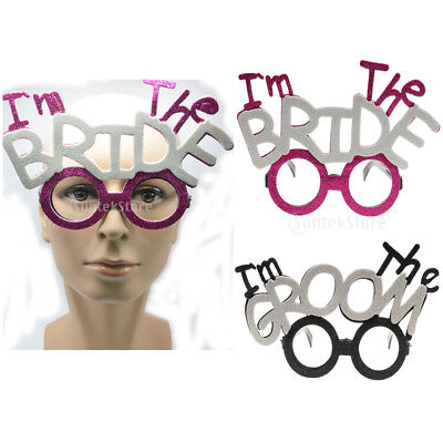 2x I'm The GROOM BRIDE Glasses Bachelorette Party Wedding Bridal Shower Prop
