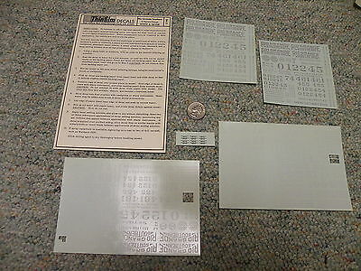 Thinfilm decals S Gauge SN-11  Rio Grande Southern Narrow wh sil Lot 6  C103