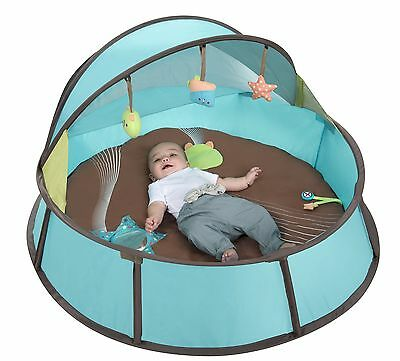 Babymoov Babyni UV Tent Playpen Blue Taupe Baby Outdoor Sun Shade Protection New
