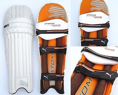 3840130 Mens PUMA Cricket Atomic 4000 BATTING LEG GUARD PADS LHD White Leg Pad