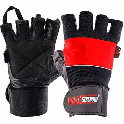 New Weight Lifting  Leather Gloves Training Fitness Gym Exercise Sports Workout