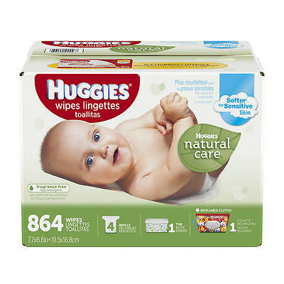 Huggies Natural Care Unscented Baby Wipes - 864 Count