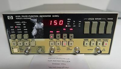 Hewlett Packard HP 8116A Pulse Function Generator 50 MHz Free Shipping