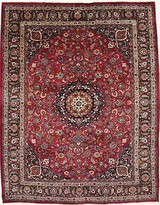 Nice S Antique Traditional Signed Mashad Persian Rug Oriental Area Carpet 10X13