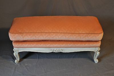 Decorative French Ottoman With Loose Cushion (Unique Size)