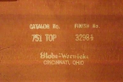Globe-Wernicke Barrister Lawyer Bookcase TOP 751 Finish 3298 1/2 AS IS