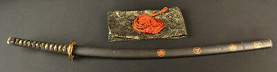 Antique Japanese Samurai Tachi Long Sword Bohi Bonji Family Mons Signed Kiyokuni