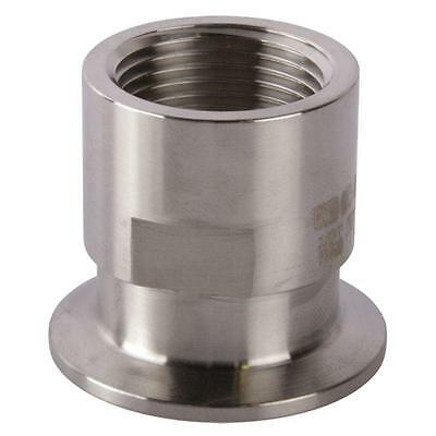 Tri Clamp/Clover to FNPT Adapter | 1 inch x 1.5 (1 1/2) - Sanitary SS304