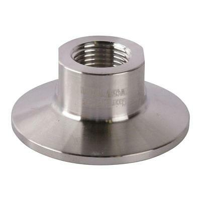 Tri Clamp/Clover to Short FNPT Adapter | 3/8 inch x 1.5 (1 1/2) Sanitary SS304