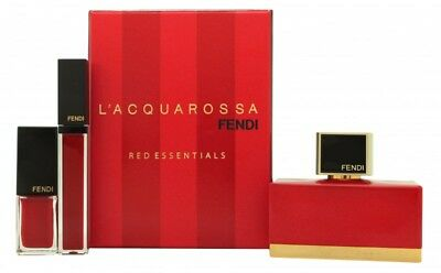 Fendi L'acquarossa Gift Set 50Ml Edp + Red Lipgloss + Red Nail Polish - Women's