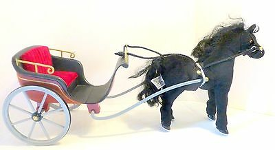 Madeline Doll Blue Ribbon Horse Clarabelle and Carriage Horse Whinnies
