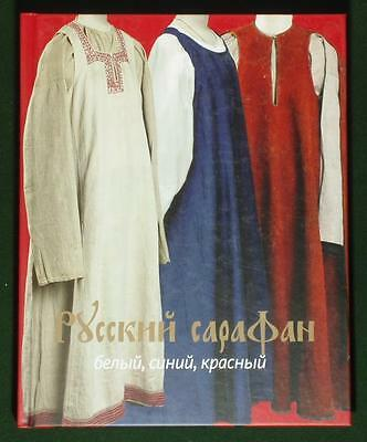 BOOK Russian Sarafan Dress folk costume ethnic peasant fashion linen wool red