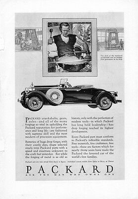 1926 - 1929 Packard advertisements 7 DIfferent Black and WHite