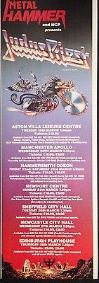 Judas Priest. Uk Tour Dates 1991 - Half Page Advert From Metal Hammer Magazine